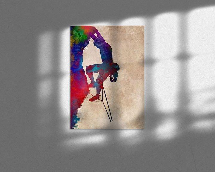 Beispiel: Bergsteiger 6 Klettern Sport Kunst #Bergsteiger #Klettern #Sport von JBJart Justyna Jaszke