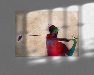 Golfspieler 2 Sport #Golf #Sport von JBJart Justyna Jaszke