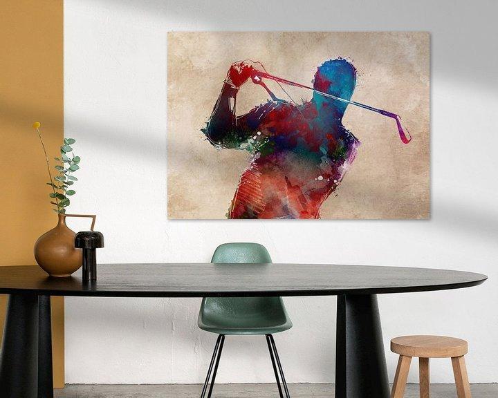 Beispiel: Golfspieler 5 Sport #Golf #Sport von JBJart Justyna Jaszke