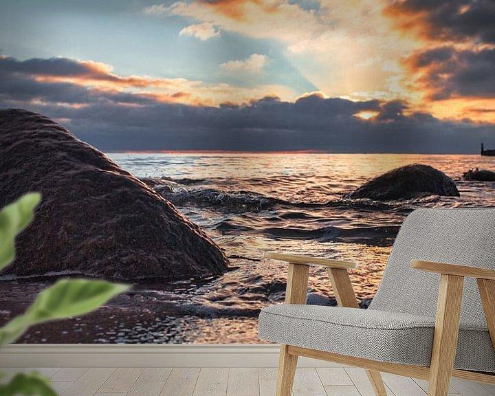 Beispiel fototapete: Sonnenaufgang über der Ostsee von Dorfworker