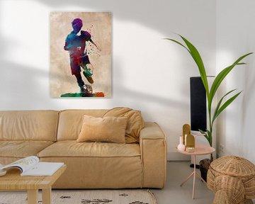 Fußballspieler 4 Sport Kunst #Fußball #Fußball von JBJart Justyna Jaszke