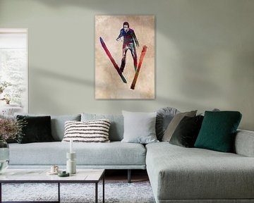 Skischansspringen sportkunst #skischansspel #sport van JBJart Justyna Jaszke