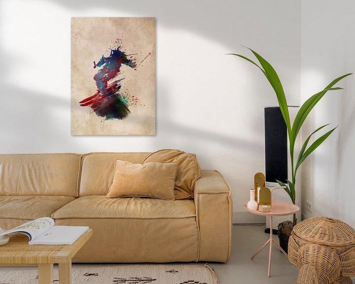 Beispiel: Skisport Kunst #Ski #Sport von JBJart Justyna Jaszke