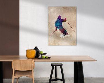 Skisportkunst #ski #sport van JBJart Justyna Jaszke