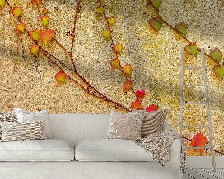 Sfeerimpressie behang: Living Wall (Klimplanten op muur) van Caroline Lichthart