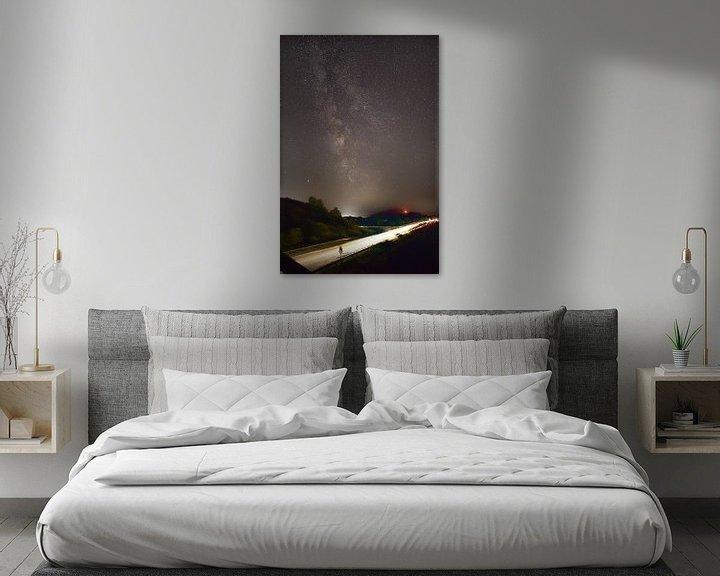 Beispiel: Milchstraße mit Mond von Dorfworker