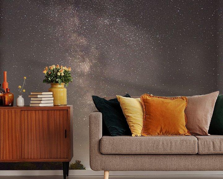 Beispiel fototapete: Milchstraße mit Mond von Dorfworker