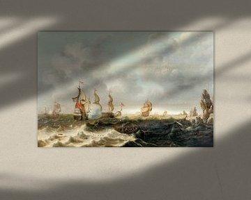 Seeschlacht mit niederländischen Kriegsschiffen, Bonaventura Peeters