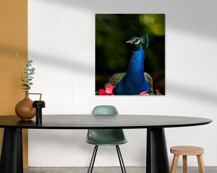 Beispiel: Pfau der Vogelkönig von Costas Ganasos
