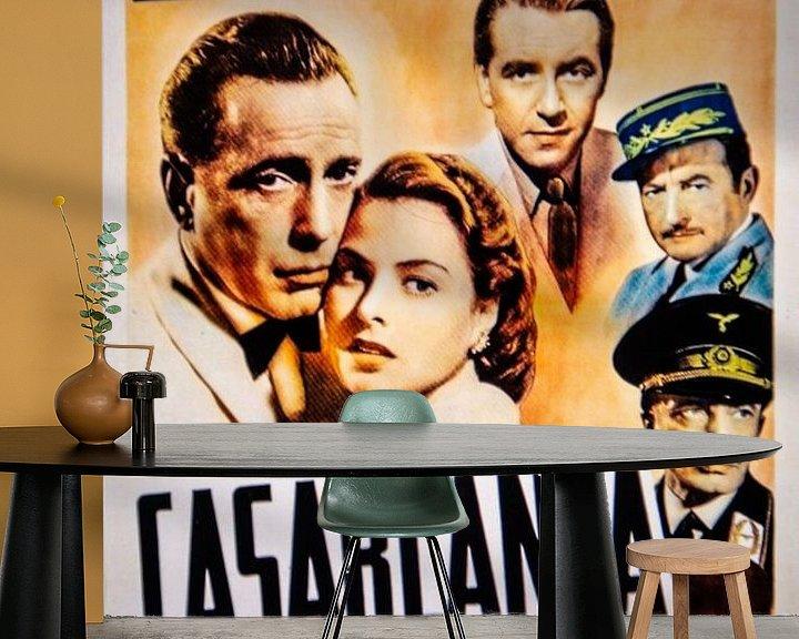 Sfeerimpressie behang: CASABLANCA Poster van Brian Morgan
