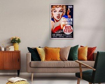 Marilyn Monroe Bus stop poster.