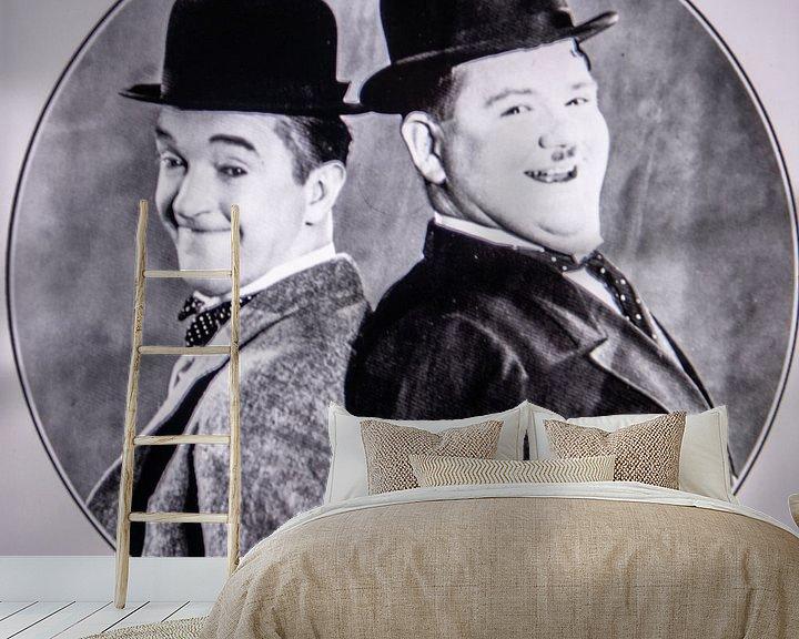 Sfeerimpressie behang: Stan Laurel and Oliver Hardy van Brian Morgan