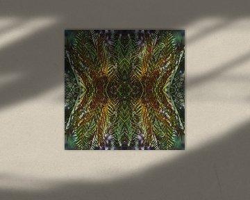 Compositie met varens van Ton Kuijpers