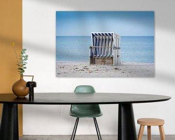 Strandstoel aan zee van Martin Wasilewski