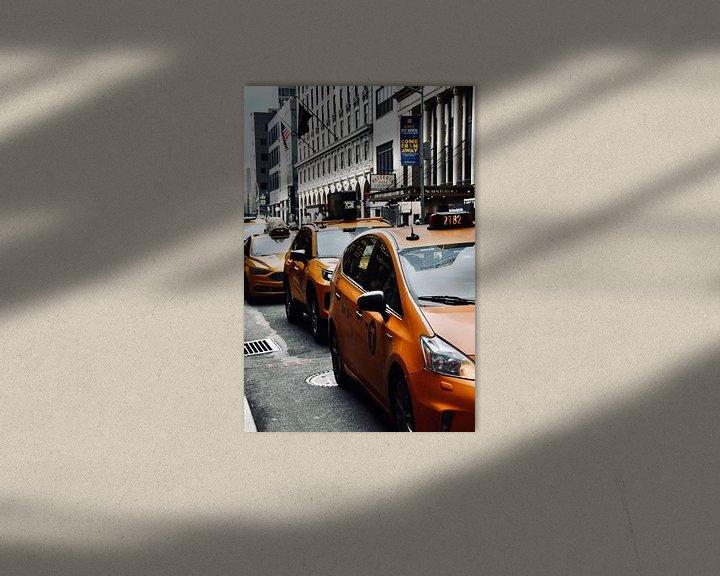 Sfeerimpressie: New York Yellow Cabs van Suzanne Brand