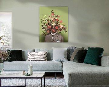 Selbstporträt mit Blumen 17 von toon joosen