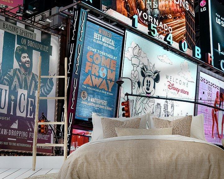 Sfeerimpressie behang: New York, Times Square van Suzanne Brand