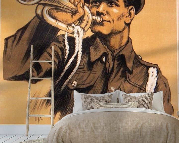 Beispiel fototapete: WWI Propaganda-Plakat von Brian Morgan