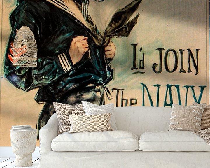 Sfeerimpressie behang: United States Navy poster van Brian Morgan