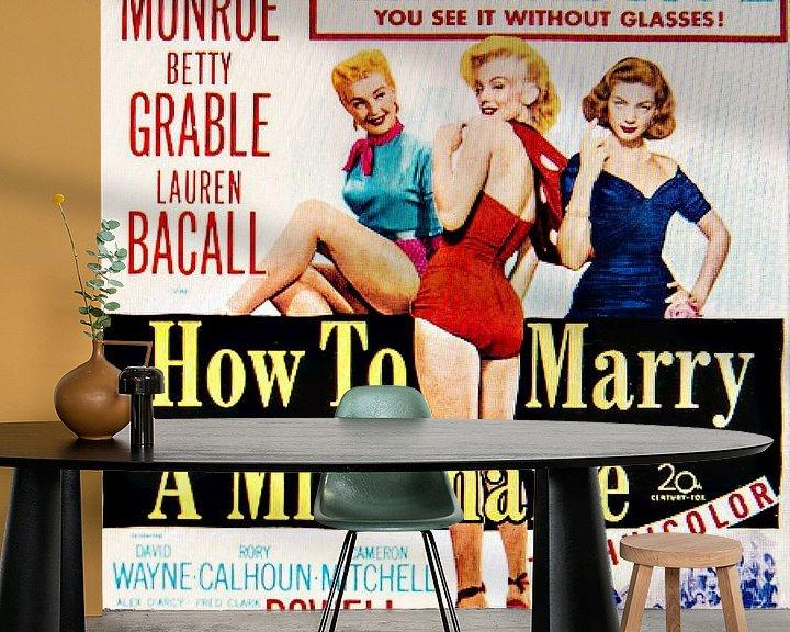 Sfeerimpressie behang: Marilyn Monroe How To Marry A Millionaire. van Brian Morgan