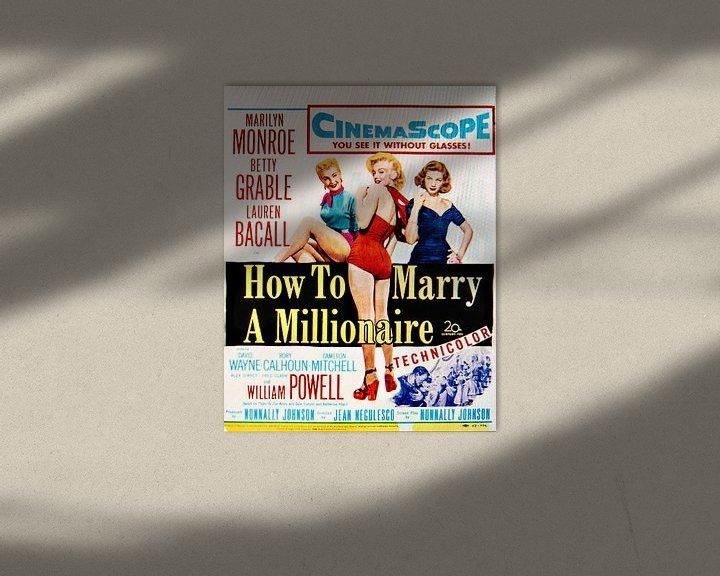 Sfeerimpressie: Marilyn Monroe How To Marry A Millionaire. van Brian Morgan