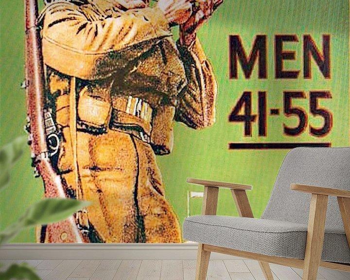 Sfeerimpressie behang: Recruiting poster for the Homeguard van Brian Morgan