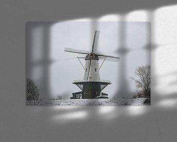 Le moulin de Koe dans la neige sur Percy's fotografie