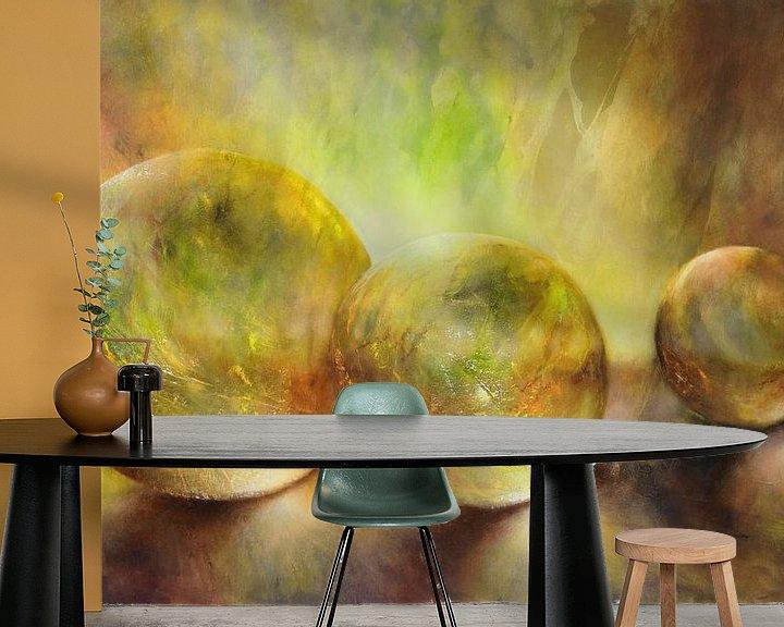 Sfeerimpressie behang: Gouden licht van Annette Schmucker