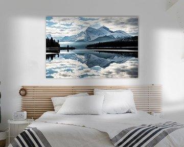 Maligne Lake, Jasper, Canada van Suzanne Brand