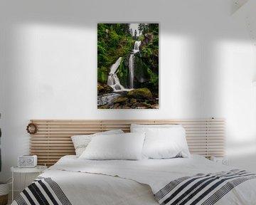 La chute d'eau de Triberg dans un vert luxuriant sur Christian Klös