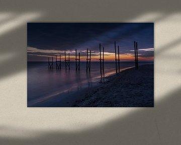 Zonsopkomst Texel (Nederland) van Marcel Kerdijk