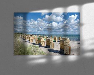 Strandleven op Fehmarn van Peter Eckert