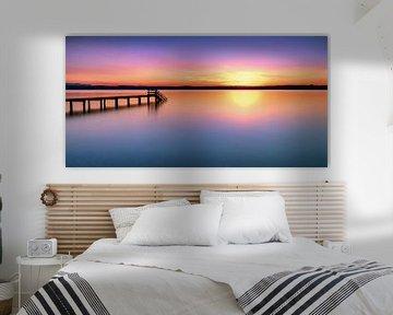 LP 71337534 steiger bij zonsondergang op het meer van Starnberg van BeeldigBeeld Food & Lifestyle
