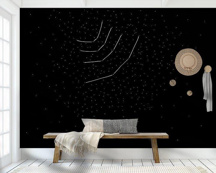 Sfeerimpressie behang: Sterrenbeeld van Wilco & Casper