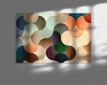 Mosaik der Kreise 01 von Adriano Oliveira