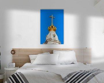 Het kruis en de kroon van de Basílica de Nossa Senhora de Fátima van Berthold Werner