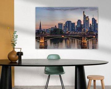Frankfurt am Main Skyline zum Sunset von Marc-Sven Kirsch