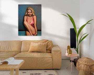 Scarlett Johansson  Schilderij van Paul Meijering