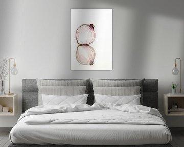 Rote Zwiebel mit Spiegel von Doris van Meggelen