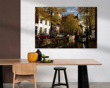 Herfstkleuren Korte Gracht Amersfoort van Stephan van Krimpen