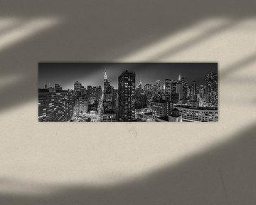 Manhattan Panorama in Schwarz und Weiß
