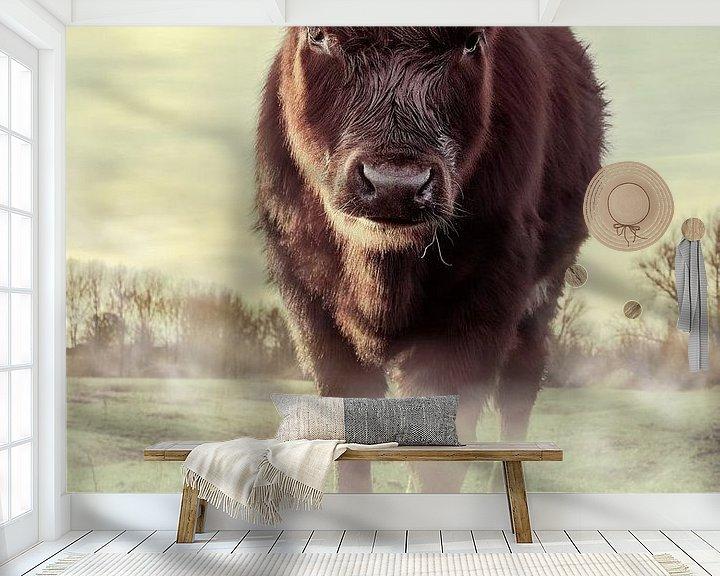Beispiel fototapete: Kuh auf der Wiese von Bert-Jan de Wagenaar