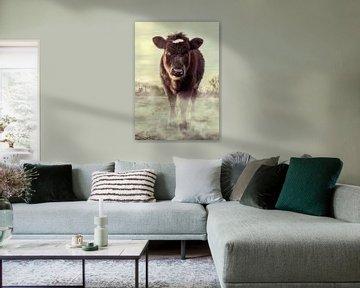Kuh auf der Wiese von Bert-Jan de Wagenaar