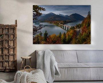 Sylvenstein-reservoir van Petra Leusmann