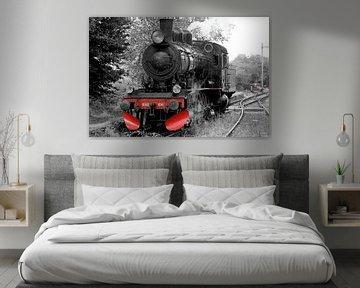 Dampflokomotive Grundfarben von Foto Graaf Eric