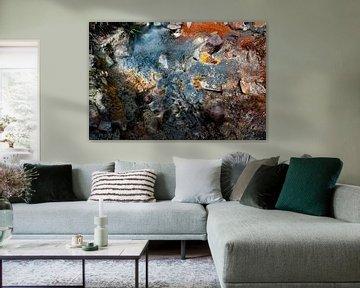 Chef-d'œuvre abstrait de couleur volcanique
