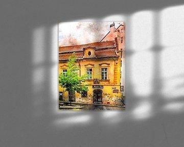 Aquarelle de Prague #Prague sur JBJart Justyna Jaszke