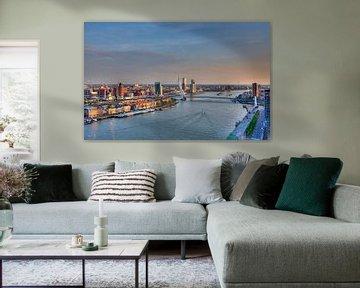 Rotterdam HDR Nieuwe Maas van Guido Akster