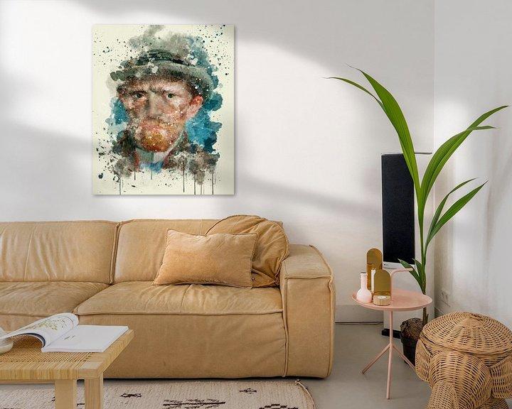 Sfeerimpressie: Zelfportret, Vincent van Gogh, 1887 van zippora wiese
