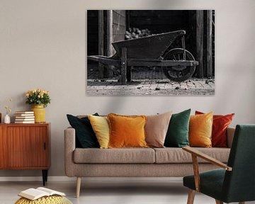 antieke kruiwagen van Bert-Jan de Wagenaar